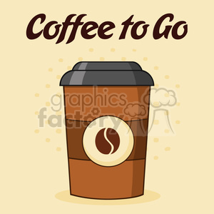 illustration coffee cup cartoon vector illustration vector illustration with text coffee to go and background clipart. Royalty-free image # 399375