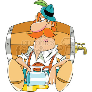 oktoberfest drunk man clipart. Commercial use image # 400315