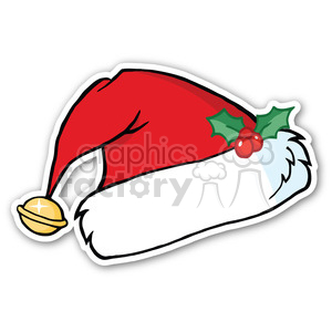 santa hat sticker clipart. Royalty-free image # 400353
