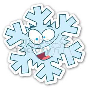snowflake sticker clipart. Royalty-free image # 400383