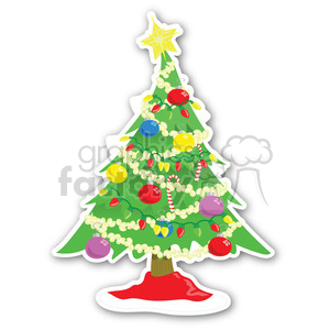 christmas tree sticker v9 clipart. Commercial use image # 400424