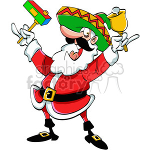 mexican santa mexico spanish bell cartoon