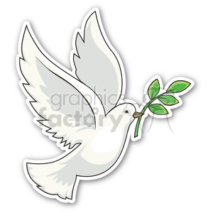 dove with an olive branch clipart. Royalty-free image # 400467