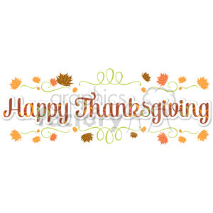 happy thanksgiving lettering pattern design clipart. Royalty-free image # 400483
