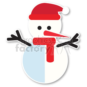 snowman icon vector art clipart. Royalty-free image # 400497