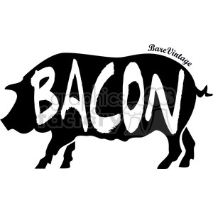 pig bacon vector art design clipart. Royalty-free icon # 400567
