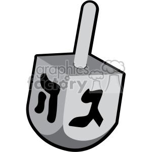 hanukkah Hebrew lettering dreidel flat vector art clipart. Royalty-free image # 400577