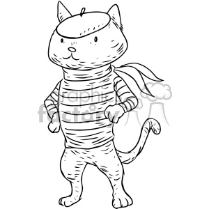 french cat character vector illustration clipart. Commercial use image # 400657