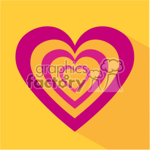 valentine hearts flat design vector icon art