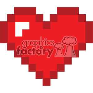 8bit heart svg cut files vector valentines die cuts clip art