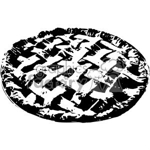 vector fresh baked pie black and white art clipart. Royalty-free image # 402364