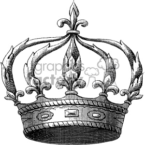 vintage king crown vector vintage 1900 vector art GF clipart. Royalty-free image # 402454