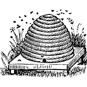 vintage beehive vector vintage 1900 vector art GF clipart. Royalty-free image # 402474