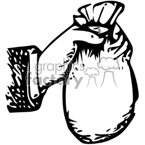 money bag vintage 1900 vector art GF clipart. Commercial use image # 402544