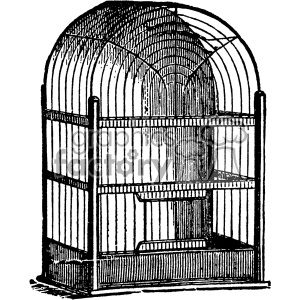 vintage bird cage vector vintage 1900 vector art GF clipart. Commercial use image # 402549