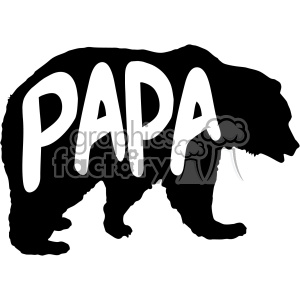 papa bear stencil vector svg cut files clipart. Commercial use image # 402609