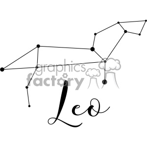 Constellations the Lion Leonis Leo vector art GF clipart. Royalty-free image # 402631