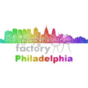 city skyline vector clipart USA Philadelphia clipart. Commercial use image # 402684