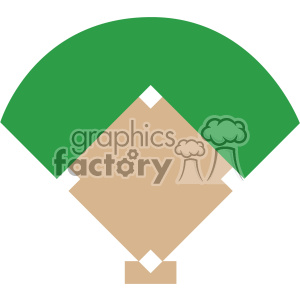 baseball field graphic svg cut file vector clipart. Royalty-free image # 403056