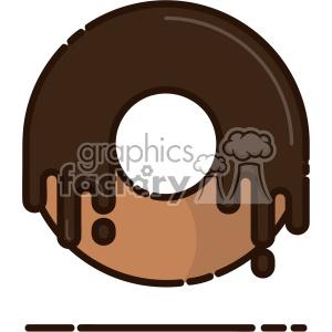 Doughnut flat vector icon design