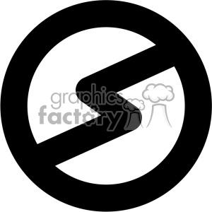 no electricity vector icon