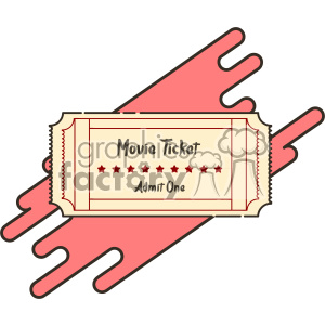 Movie ticket flat vector icon design clipart. Commercial use image # 403216