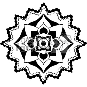 mandala geometric vector design 009 clipart. Royalty-free image # 403237