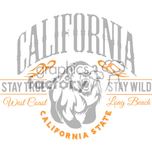california state logo design vector art v1