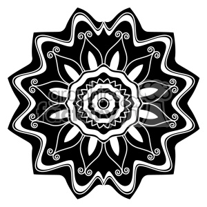 mandala geometric vector design 022 clipart. Commercial use image # 403257