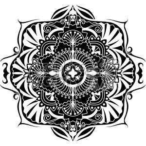 mandala pattern geometric vector art clipart. Commercial use image # 403267