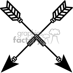 arrows crossed vector design 03 clipart. Royalty-free image # 403287