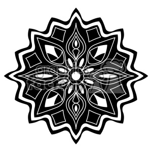 mandala geometric vector design 020 clipart. Royalty-free image # 403297