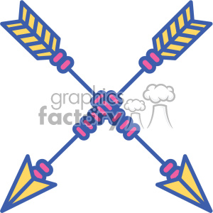 colored crossed arrow vector design 09