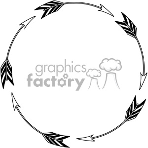 circle arrow design vector art clipart. Royalty-free icon # 403317