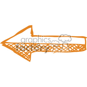 sketched left arrow vector art clipart. Royalty-free image # 403327