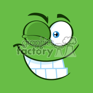 cartoon funny comical face wink happy smile
