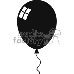 10733 Royalty Free RF Clipart Balloon Black Silhouette Vector Illustration clipart. Commercial use image # 403556
