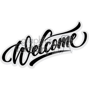 welcome svg cut files clipart. Royalty-free image # 403706