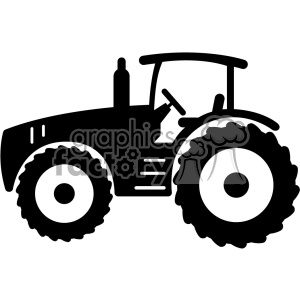 cut+files tractor farm silhouette black+white vinyl+ready