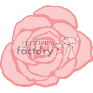 pink rose svg cut file clipart. Royalty-free image # 403785