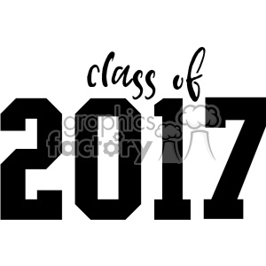 class of 2017 cut file clipart. Commercial use image # 403795