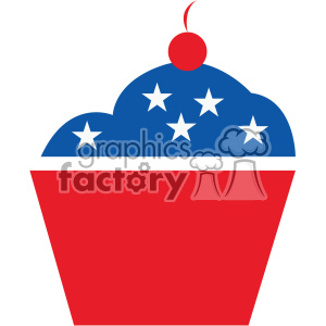 4th of july cupcake vector icon