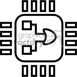 computer micro processor chip icon clipart. Commercial use image # 403834