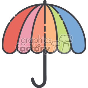 Umbrella vector clip art images clipart. Royalty-free image # 403892