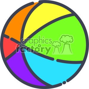 Beach Ball clip art vector images clipart. Royalty-free image # 403915