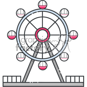 Ferris wheel clip art vector images clipart. Royalty-free image # 403917