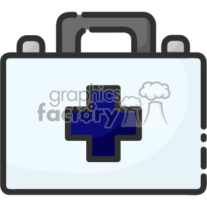 First aid kit clip art vector images clipart. Commercial use image # 403927