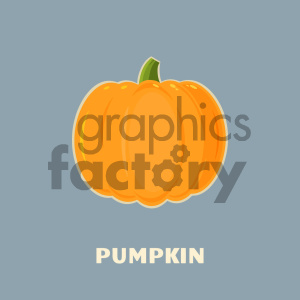 Pumpkin Fruit Cartoon Flat Design Style Vector Illustration With Background And Text Pumpkin clipart. Royalty-free image # 403969