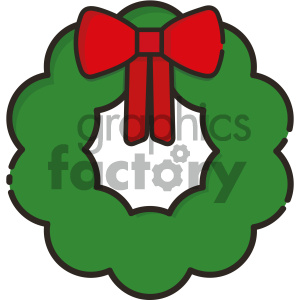 wreath vector icon