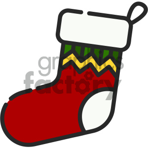 christmas stocking vector icon clipart. Royalty-free image # 403984